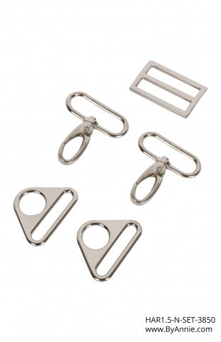 1-1/2 inch - Nickel Hardware Set 3850