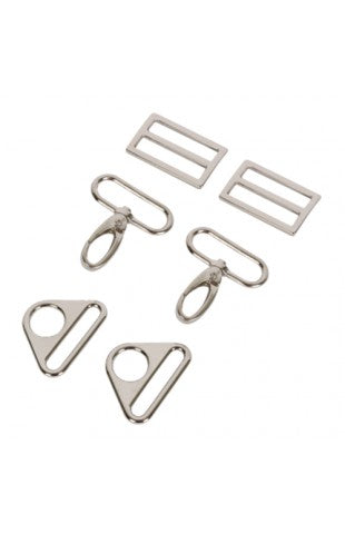 1-1/2 inch - Nickel Hardware Set 3950