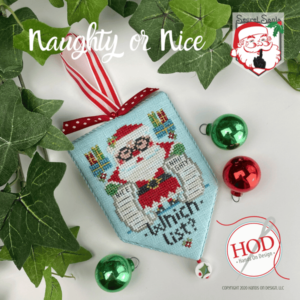 Naughty or Nice - Cross Stitch Pattern by Hands On Design