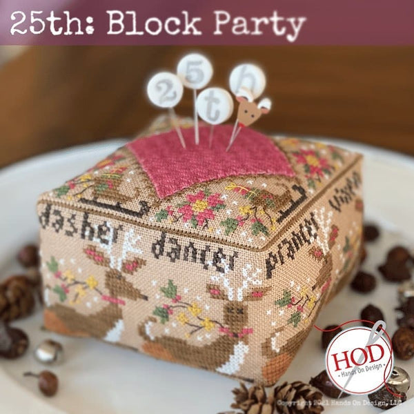 Block Party 25th - Cross Stitch Pattern and Pins