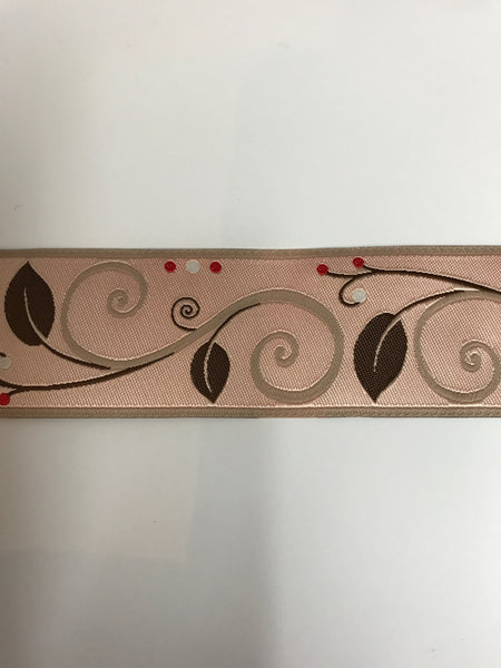 Blush Wide Scroll Ribbon by Nancy Ziemann