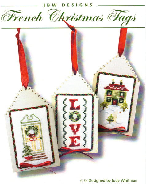 French Christmas Tags - Cross Stitch Pattern