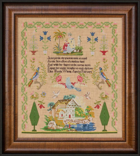 Ellen Martha Whiting 1879 ~ Reproduction Sampler (PDF)