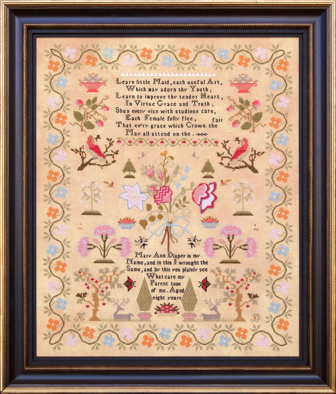 Mary Ann Diaper 1826 - Reproduction Sampler