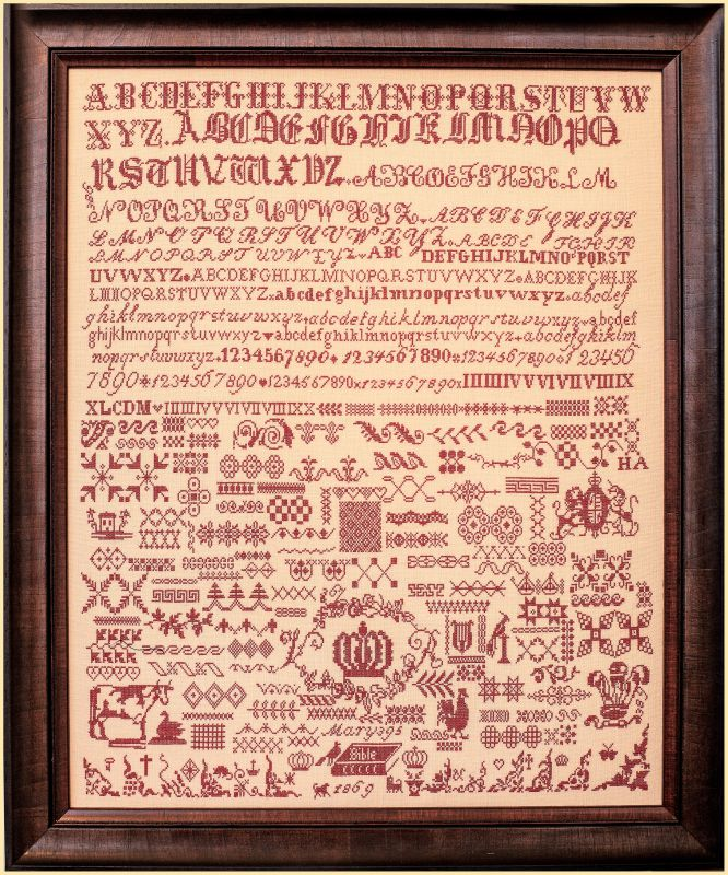 Mary 395 1869 ~ A Bristol orphanage sampler