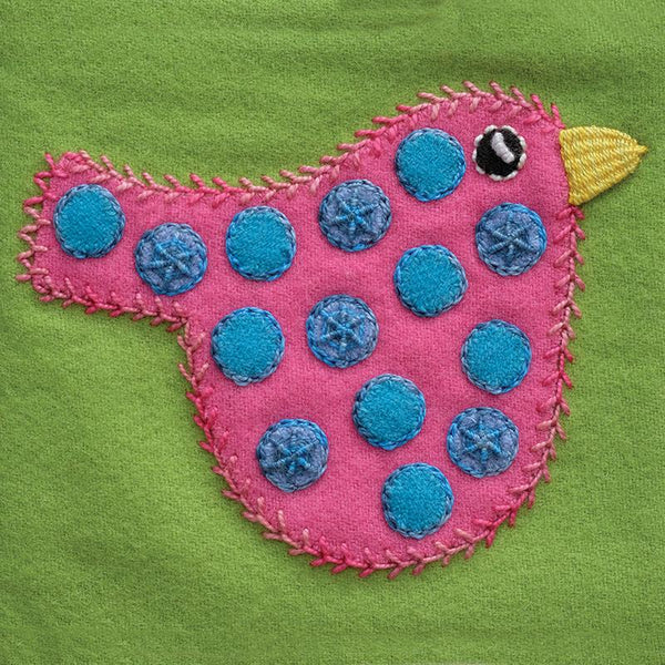 Pre-Cut Block - Polka Dot Bird