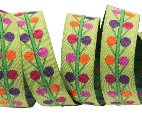 Mini Dots on lime by Sue Spargo