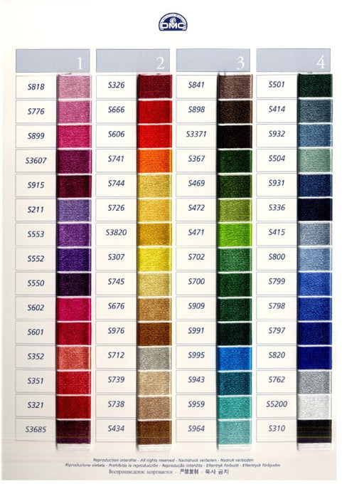 Dmc Satin Rayon Floss A Stitch In Time