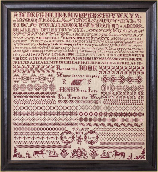 Hope and Love ~ Clara and Maude Pickernell 1881 a Bristol Orphanage sampler