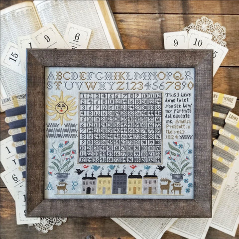 Amelia Prescott and How her Parents Did Educate Her - Cross Stitch Pattern