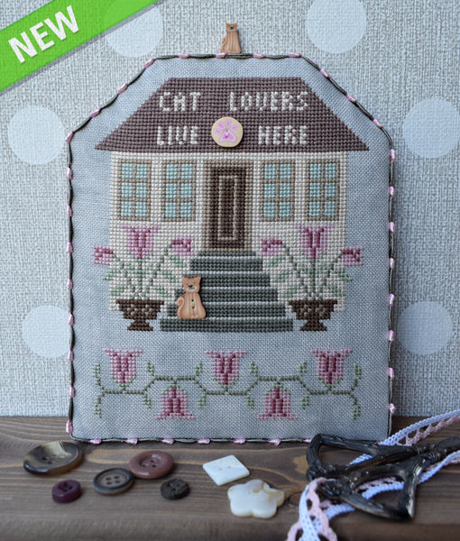 Cat Lovers with Embellishments - Cross Stitch Pattern