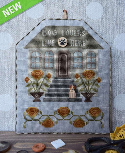 Dog Lovers with Embellishments - Cross Stitch Pattern