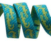 Crocodile on Turquoise - Folk Tails by Sue Spargo