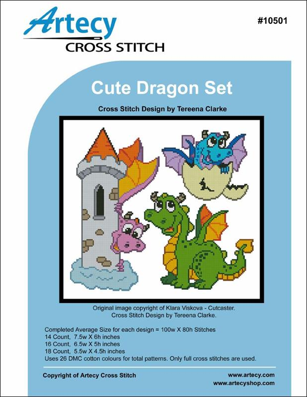 Cute Dragon Set - Cross Stitch Pattern