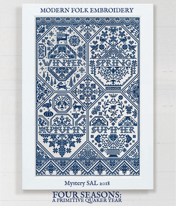 Four Seasons, A Primitive Quaker Year - Cross Stitch Pattern