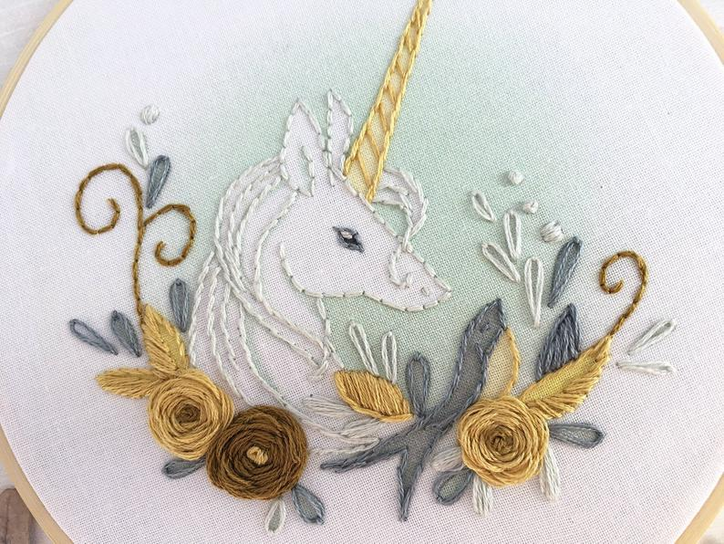 Unicorn Embroidery Kit