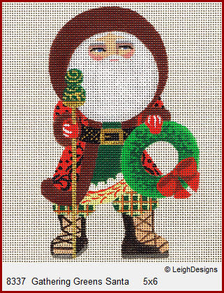 LD8337 Gathering Greens Santa