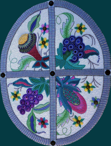Jacobean Panel  JAC22 with Bead Pack