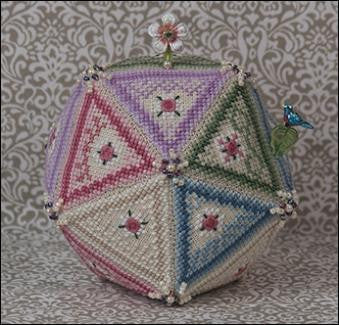 Perpetual Pentagon with White Flower & Bluebird pins