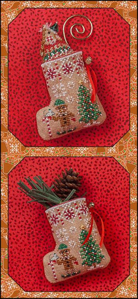 Gingerbread Mouse Elf Stocking