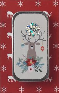 Happy Holly Deer Mini Slide