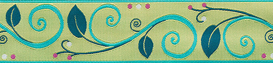 Lime Wide Scroll by Nancy Ziemann