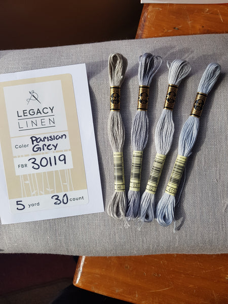 Legacy Linen - 30 Count Parisian Grey - 90cm wide