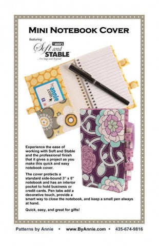 Mini Notebook Cover Pattern - By Annie