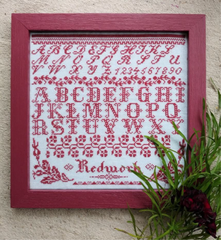 Redwork Sampler - Cross Stitch Pattern