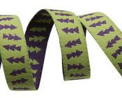 Reversible Lime Green & Purple Arrows Ribbon - Folk Tails by Sue Spargo
