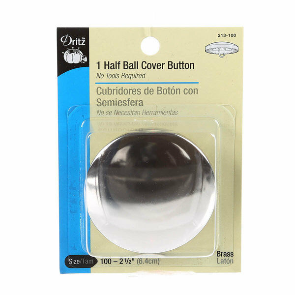 Dritz Half Ball Self-Cover Button Size 100 - 2 1/2 inch 64 mm