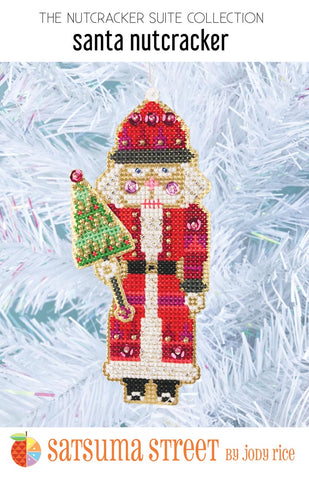 Santa Nutcracker Ornament Kit - Cross Stitch Kit