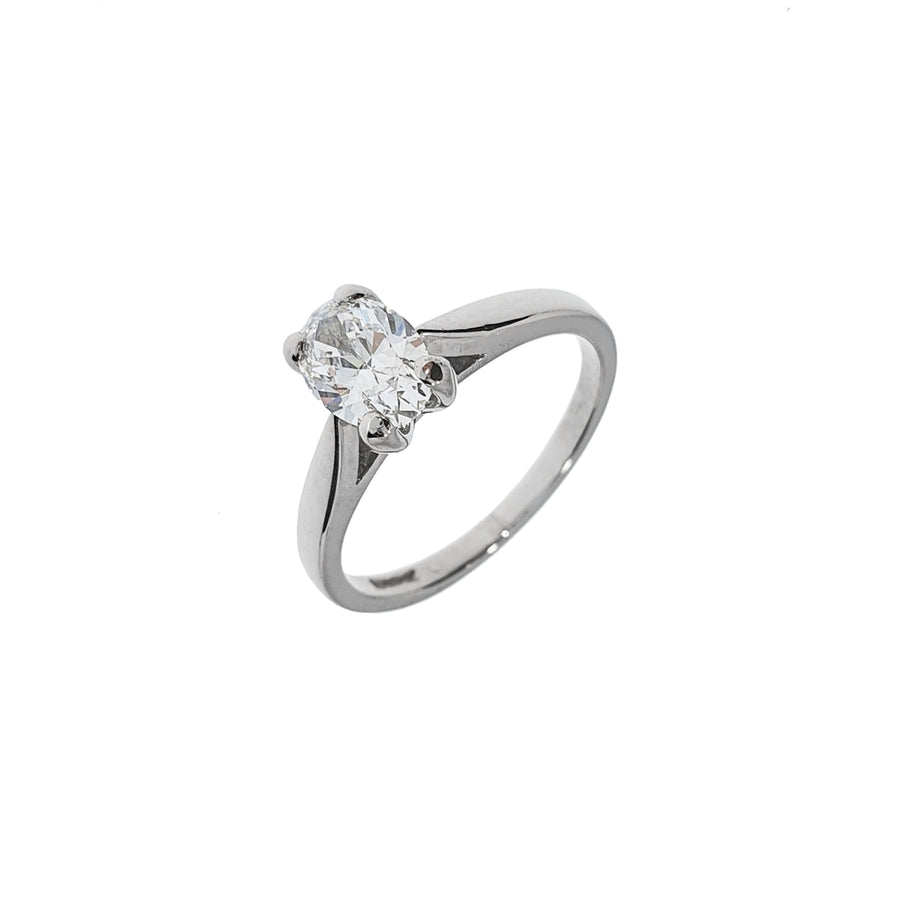 0.76ct Oval Cut Solitaire Ring