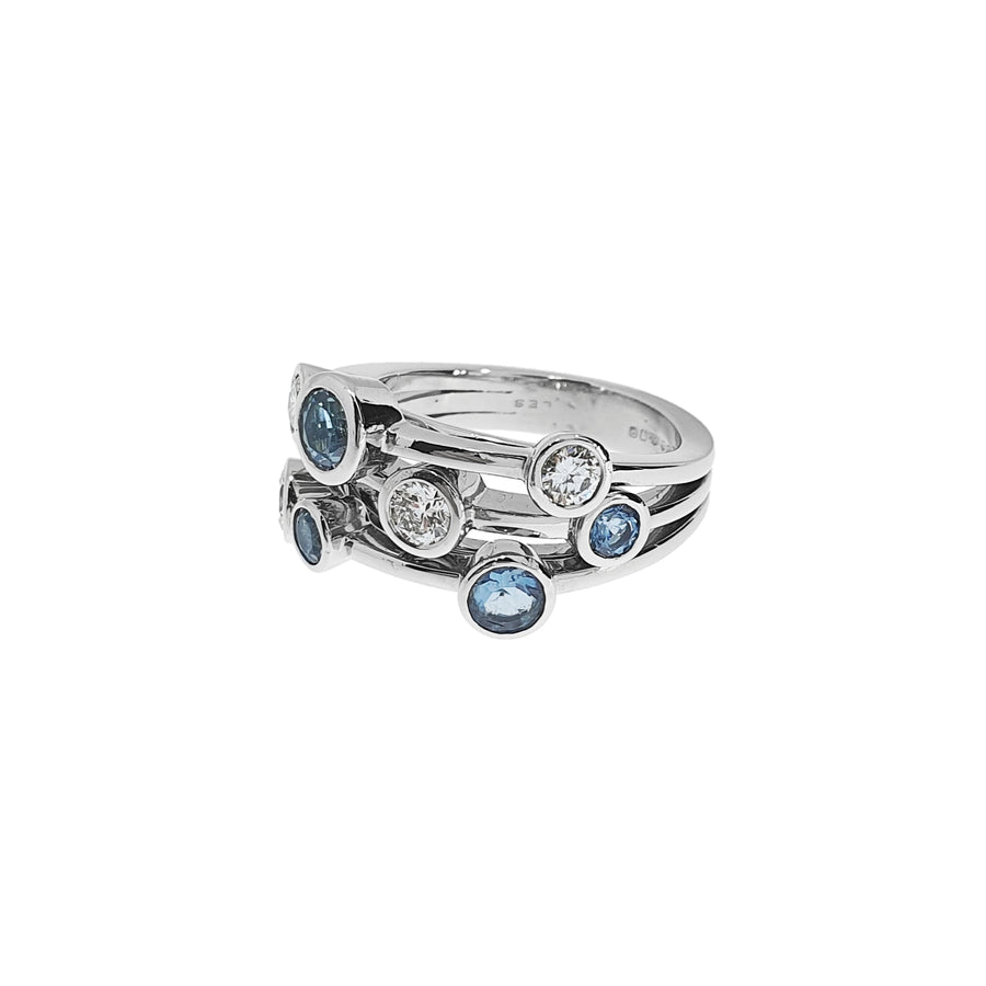 Boodles Aquamarine & Diamond Ring