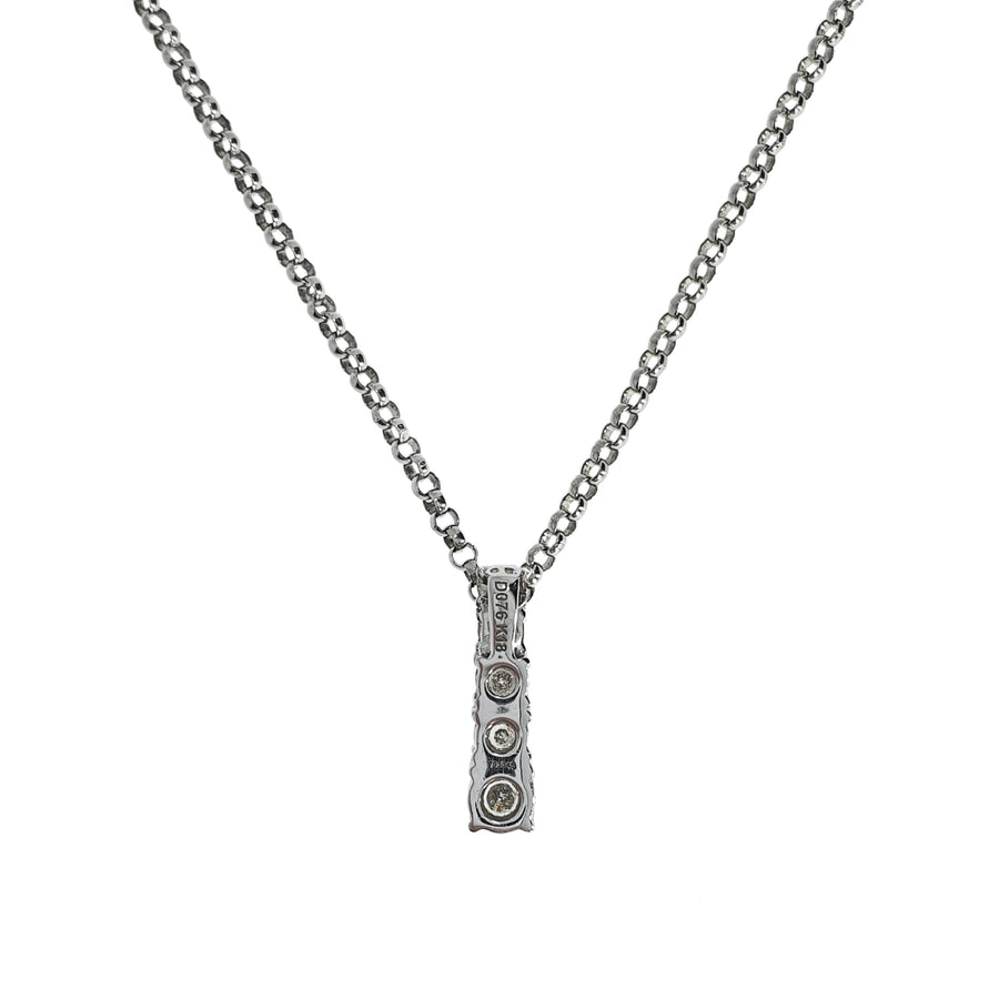 0.76ct Graduated Diamond Pendant