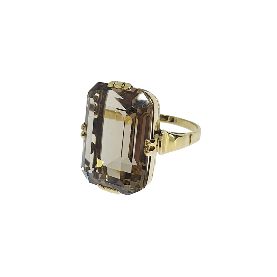 Large Smoky Quartz Dress Ring