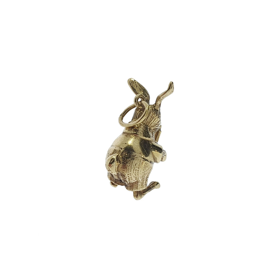 9ct Gold Rabbit & Candle Charm