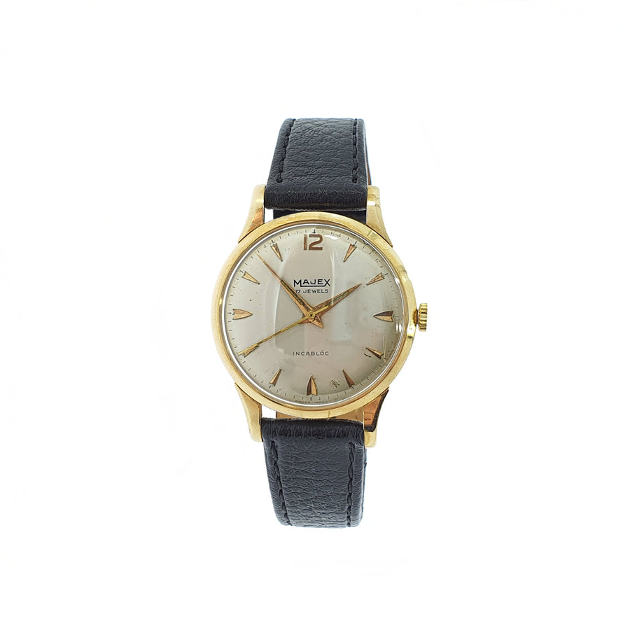 Vintage 9ct Gold Majex Mechanical Wristwatch