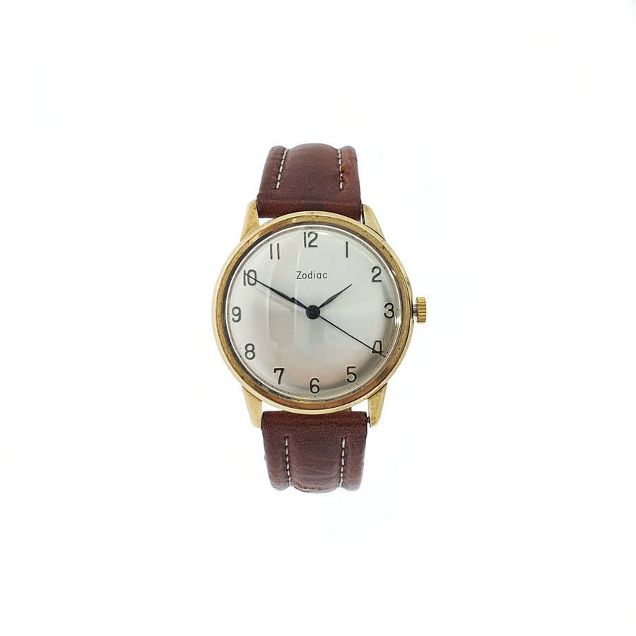 1973 Mechanical 9ct Gold Zodiac Wristwatch