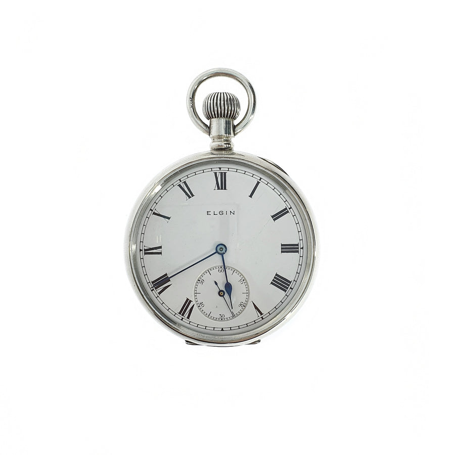 Elgin Silver Pocket Watch