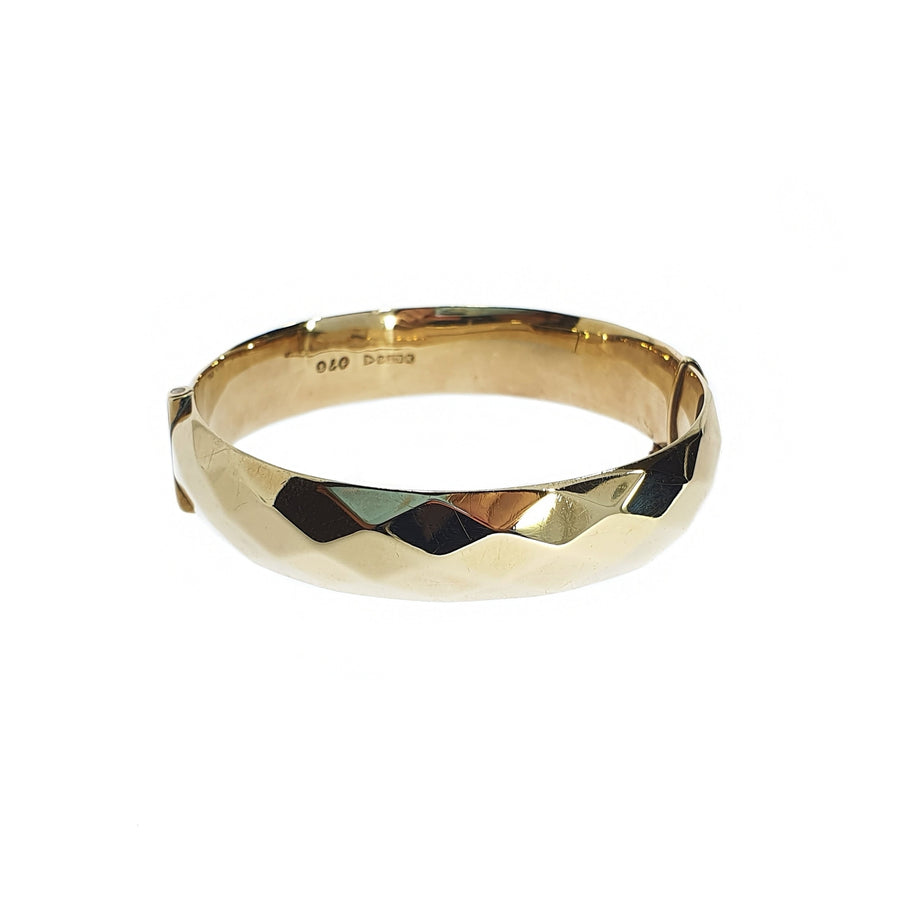 Faceted Gold Bangle