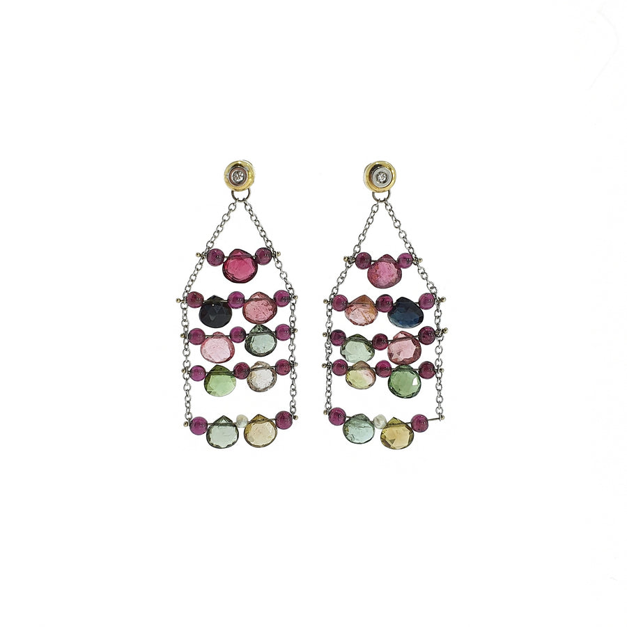 Mixed Tourmaline Earrings