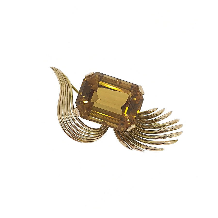 1970's Citrine Brooch
