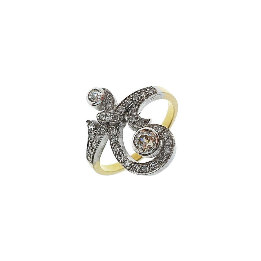 18ct Gold Diamond Swirl Ring