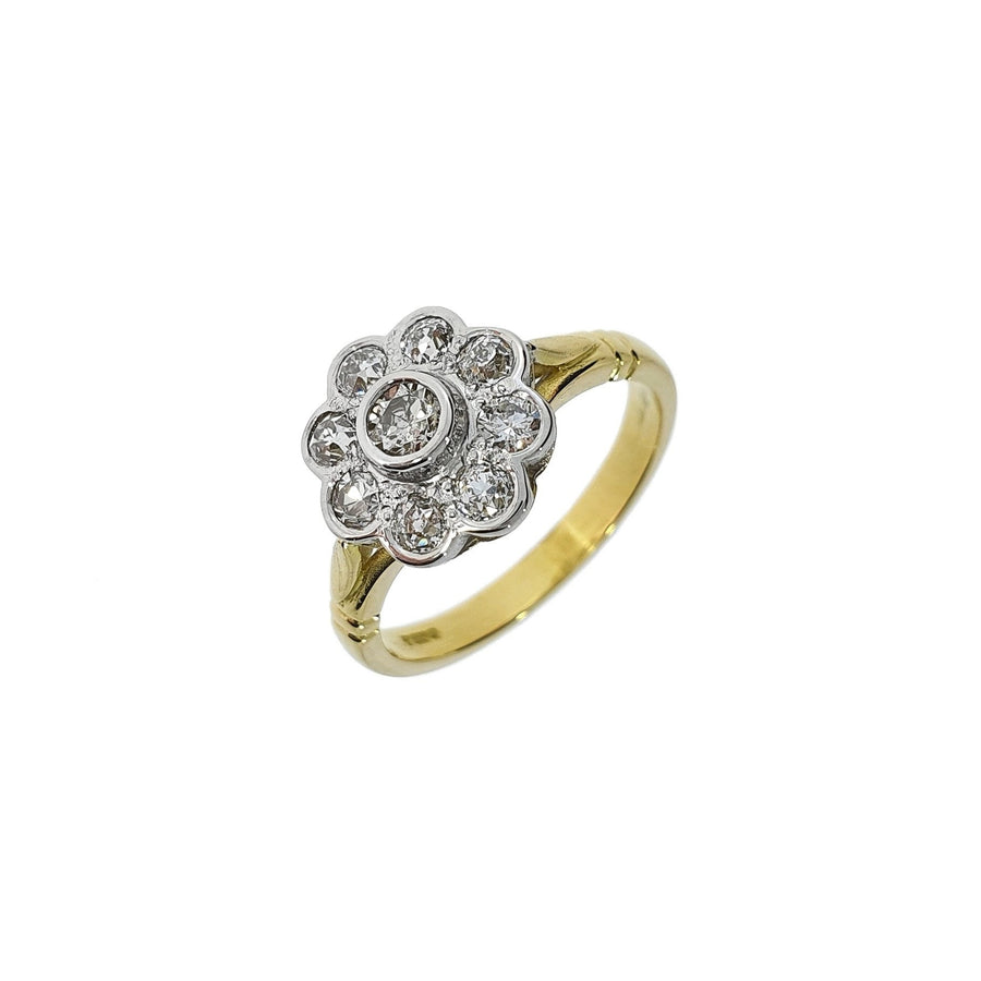 Vintage 0.74ct Diamond Daisy Cluster Ring