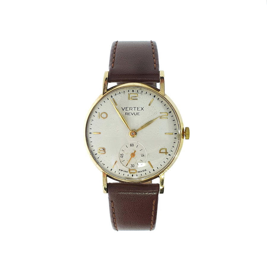 9ct Gold Vintage Vertex Wristwatch