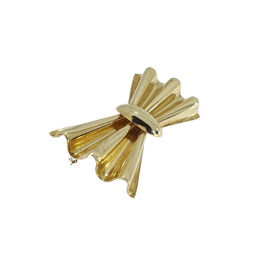 9ct Gold Boodles Bow Brooch