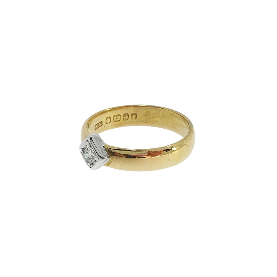 22ct Gold Diamond Set Band