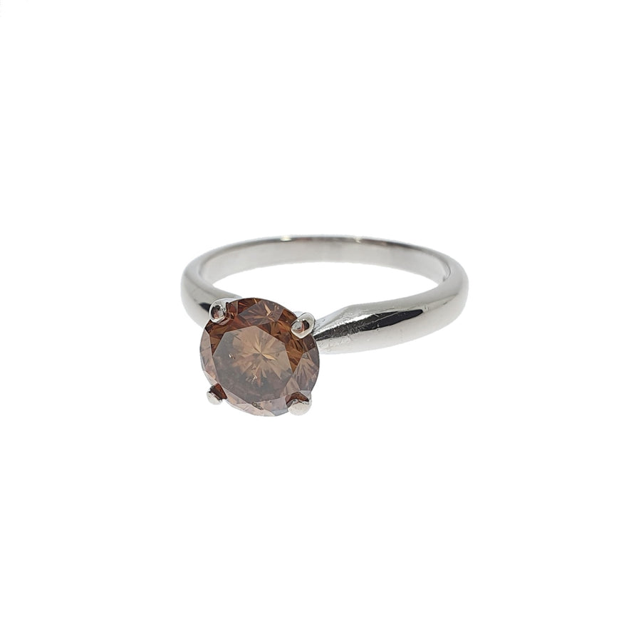 1.40ct Brown Diamond Solitaire Ring