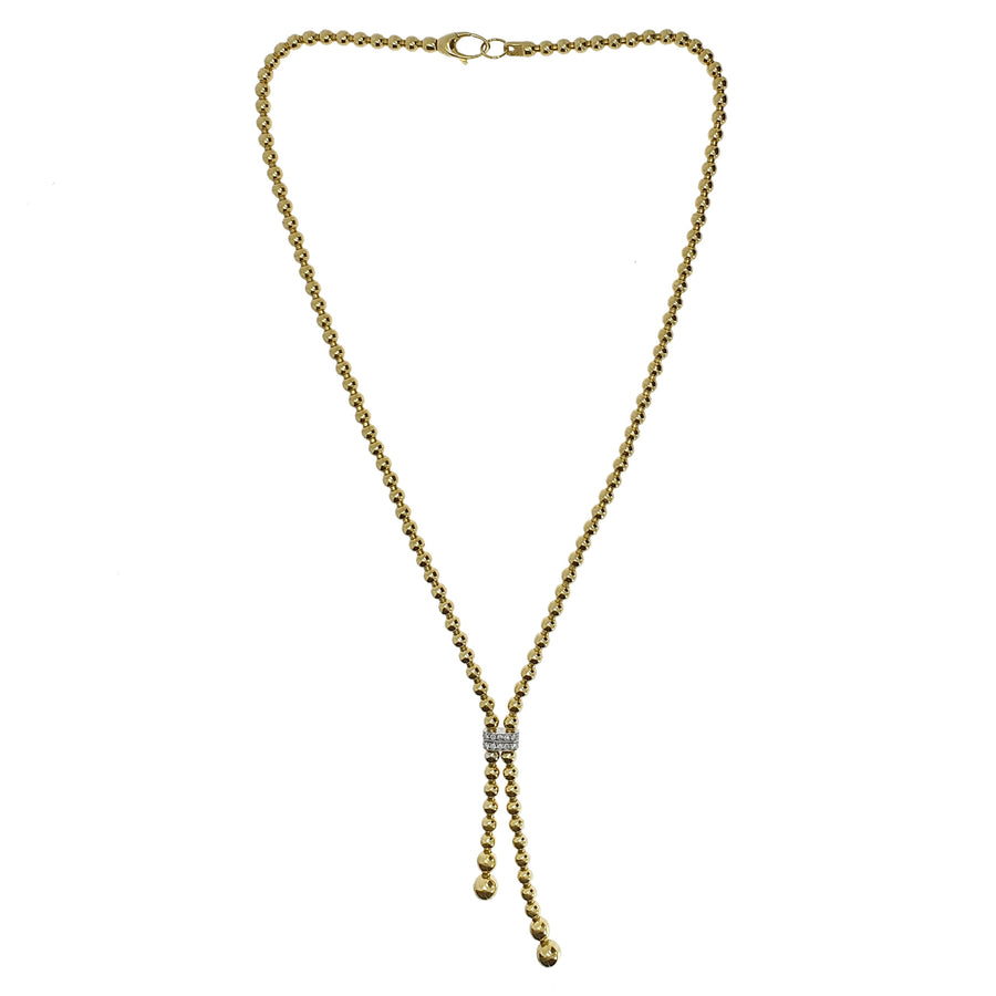 18ct Gold & Diamond Set Necklace